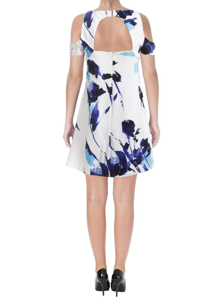 Floral Blues Cold Shoulder, Dress, char_cowan,- REHEART Canadian Online Wardrobe-Sharing Platform