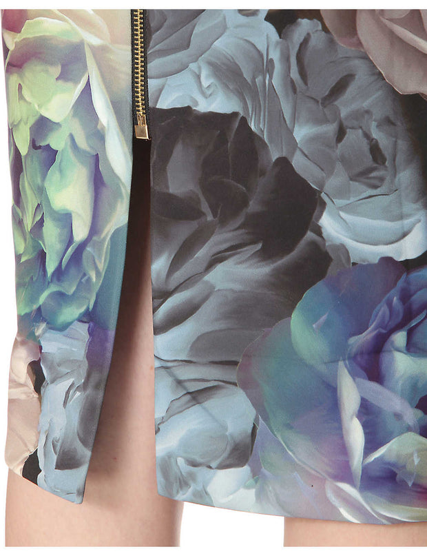 Mayzi Technicolour Bloom Midi Dress, Dress, k8whitt,- REHEART Canadian Online Wardrobe-Sharing Platform
