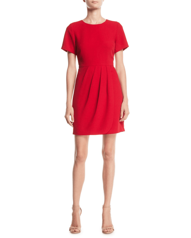 Lynndalyn Pleated Short-Sleeve Mini, Dress, annataylor,- REHEART Canadian Online Wardrobe-Sharing Platform