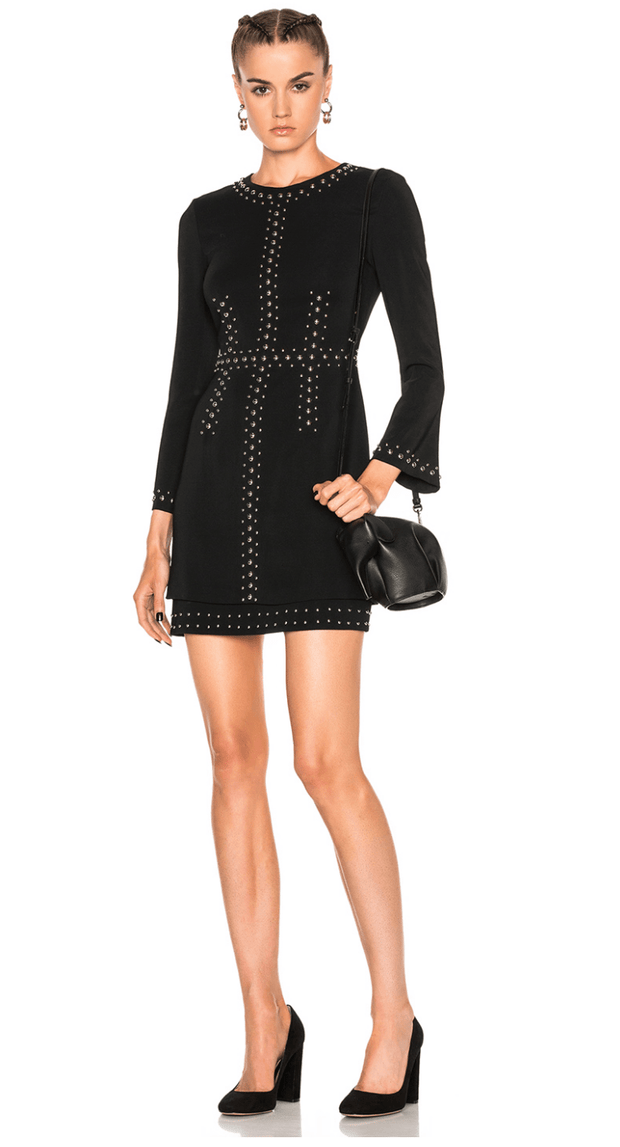 Madison Studded Stretch Crepe Dress - REHEART 💜 Canadian Online Wardrobe-Sharing Platform