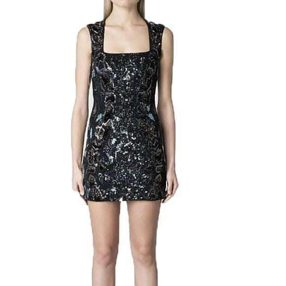 Square-Neckline Sequin Mini Dress, Dress, sheridansydney,- REHEART Canadian Online Wardrobe-Sharing Platform