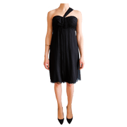 One-Shoulder Flowy Short Dress, Dress, Missy-Kay-Kay,- REHEART Canadian Online Wardrobe-Sharing Platform
