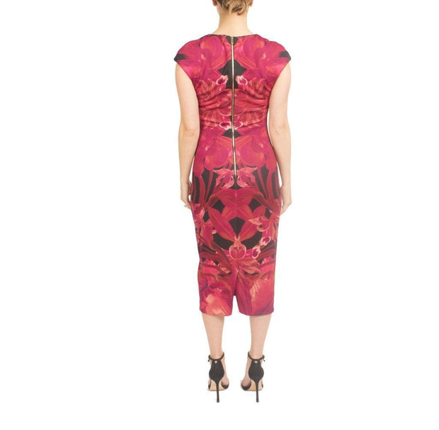 Midi Jungle Orchid Print, Dress, andreajamm,- REHEART Canadian Online Wardrobe-Sharing Platform