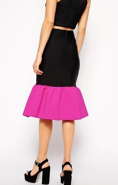 Pencil Skirt with Peplum Hem, Skirt, thestyleassociate_,- REHEART Canadian Online Wardrobe-Sharing Platform