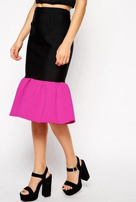 Pencil Skirt with Peplum Hem - REHEART 💜 Canadian Online Wardrobe-Sharing Platform