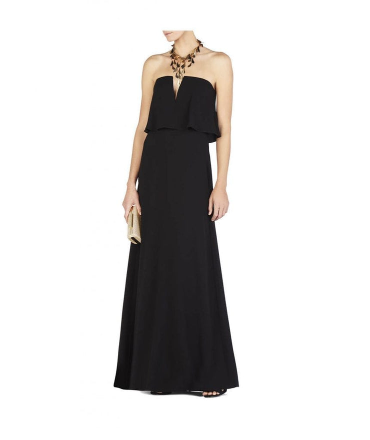 Notched V Strapless Gown, Dress, jacklynnwest,- REHEART Canadian Online Wardrobe-Sharing Platform