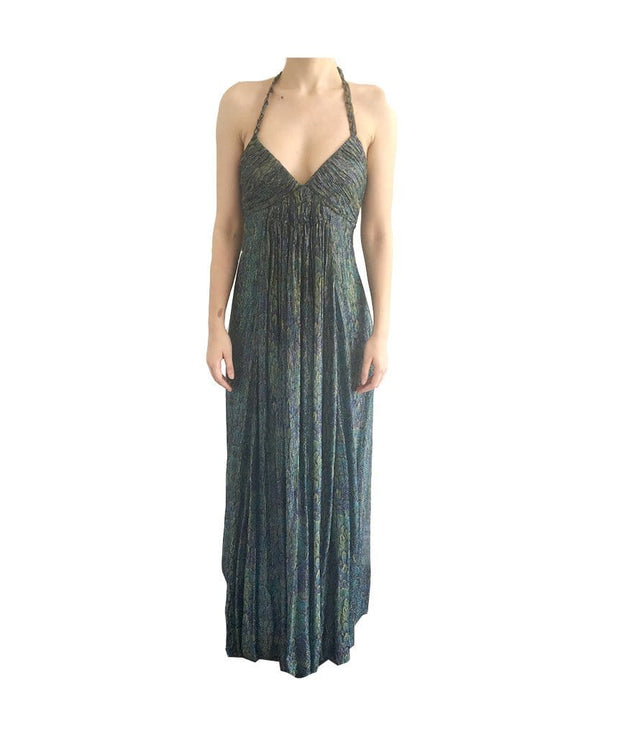 Metallic Print Long Dress, Dress, ekalami,- REHEART Canadian Online Wardrobe-Sharing Platform