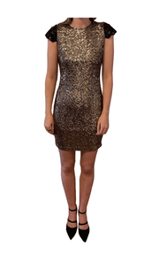 Sequin Capped Sleeved Dress - REHEART 💜 Canadian Online Wardrobe-Sharing Platform
