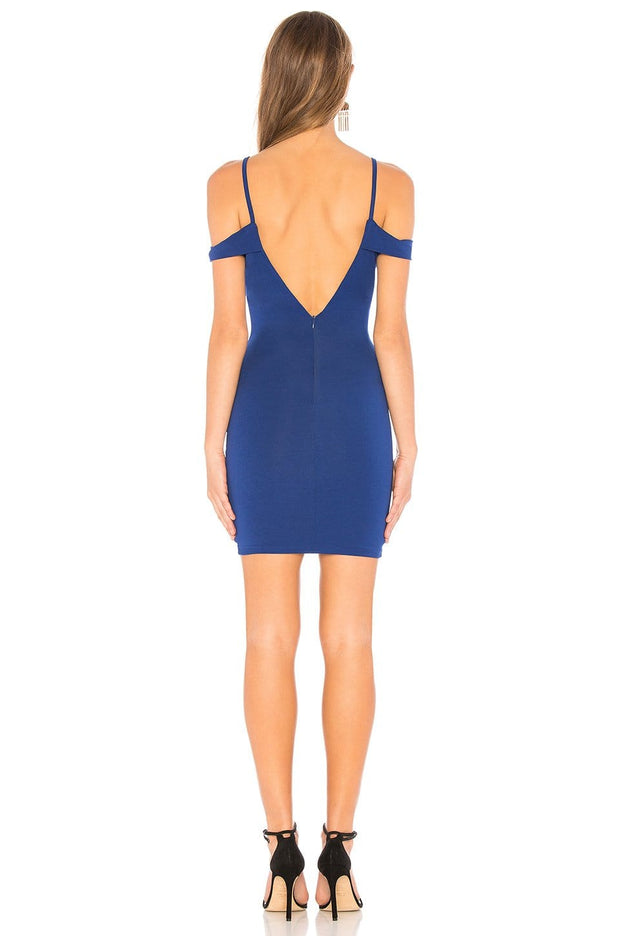 Avril Deep V Navy Cut Out Dress - REHEART 💜 Canadian Online Wardrobe-Sharing Platform