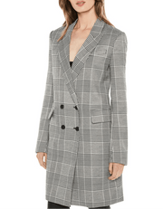 Checked Double-Breasted Blazer - REHEART 💜 Canadian Online Wardrobe-Sharing Platform