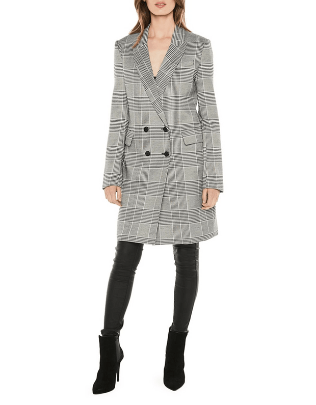 Checked Double-Breasted Blazer, Jacket, annataylor,- REHEART Canadian Online Wardrobe-Sharing Platform