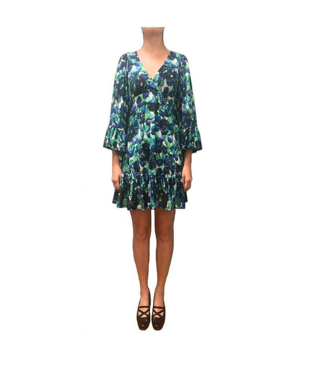 Blueberry Fields Flounce Dress, Dress, olivbz,- REHEART Canadian Online Wardrobe-Sharing Platform