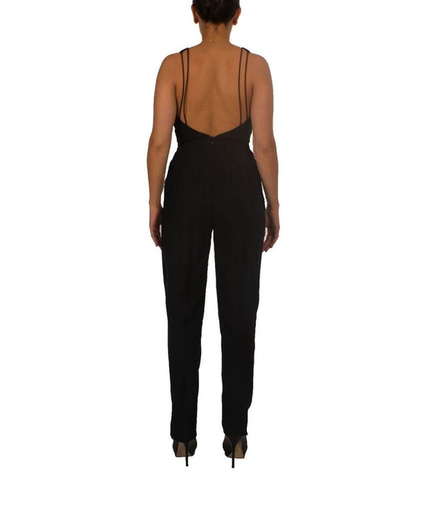 Multi-Strap Black Backless Jumpsuit, Jumpsuit, definasa,- REHEART Canadian Online Wardrobe-Sharing Platform
