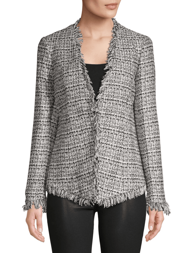 Fray-Trimmed Tweed Jacket - REHEART 💜 Canadian Online Wardrobe-Sharing Platform