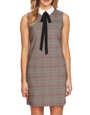 Glen Plaid A-Line Dress, Dress, vbelegrinis,- REHEART Canadian Online Wardrobe-Sharing Platform