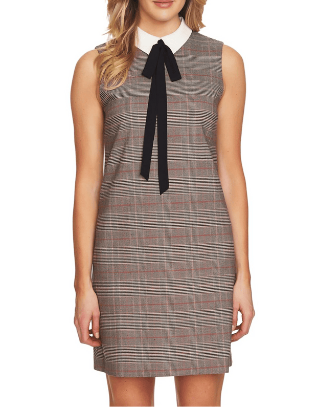 Glen Plaid A-Line Dress - REHEART 💜 Canadian Online Wardrobe-Sharing Platform