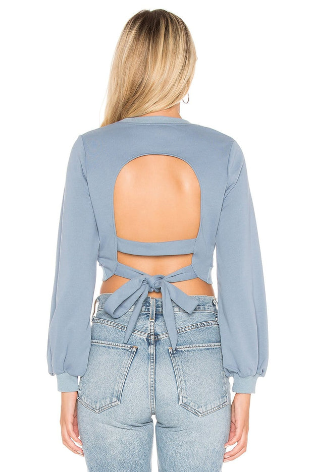 Cheryl Open Back Cropped Sweatshirt, Top, mariabelegrinis,- REHEART Canadian Online Wardrobe-Sharing Platform