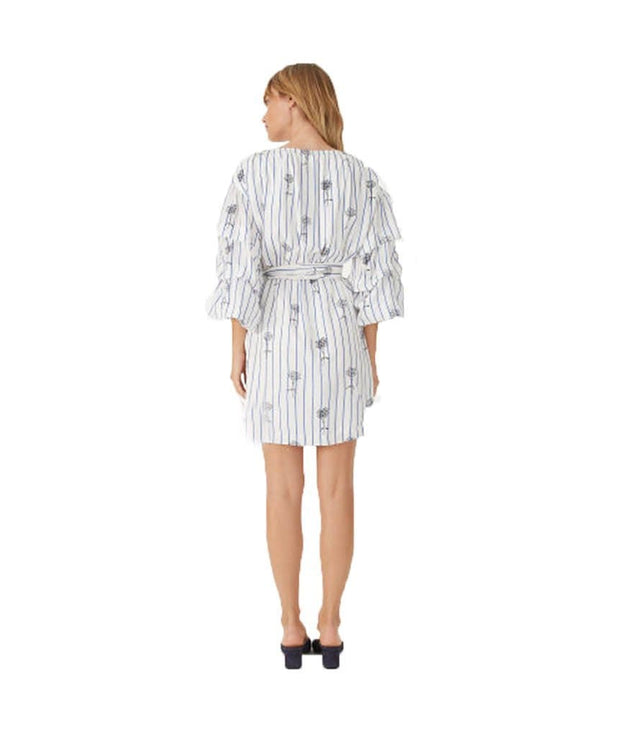 Delicate Floral Striped Wrap Dress, Dress, rcortellucci,- REHEART Canadian Online Wardrobe-Sharing Platform