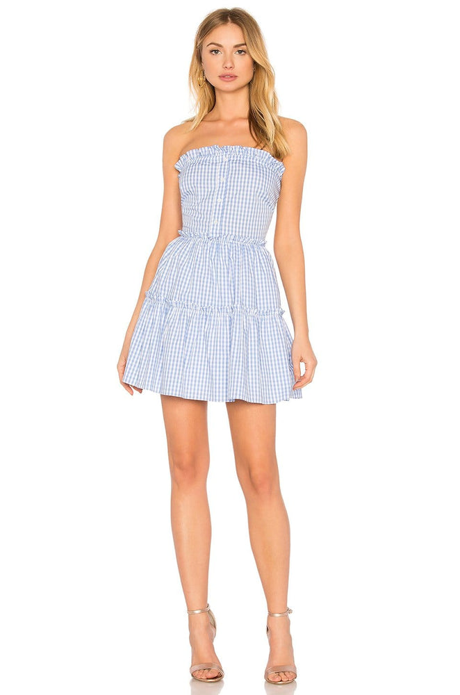 Strapless Plaid Mini