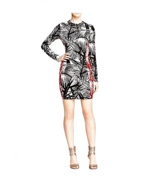 Mailyn Palm Leaf Print Bodycon, Dress, jacklynnwest,- REHEART Canadian Online Wardrobe-Sharing Platform