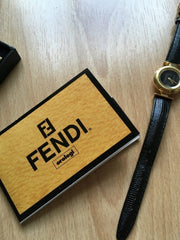 Vintage Timepiece Gold Black Leather Watch, Accessories, Melissss1984,- REHEART Canadian Online Wardrobe-Sharing Platform