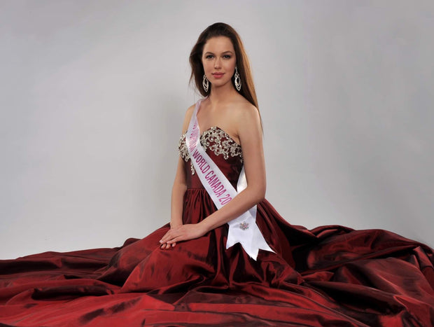 Royal Ruby Red Ball Gown, Dress, katyatchoubar,- REHEART Canadian Online Wardrobe-Sharing Platform