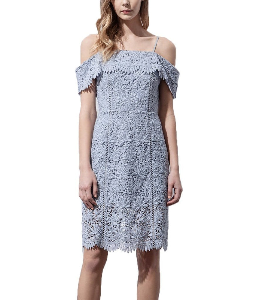 Floral Lace Cold Shoulder Dress