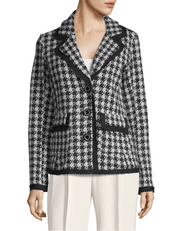 Houndstooth Notch Lapel Jacket - REHEART 💜 Canadian Online Wardrobe-Sharing Platform