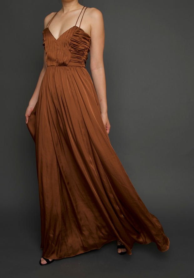 Copper Ball Gown, Dress, islanoir,- REHEART Canadian Online Wardrobe-Sharing Platform