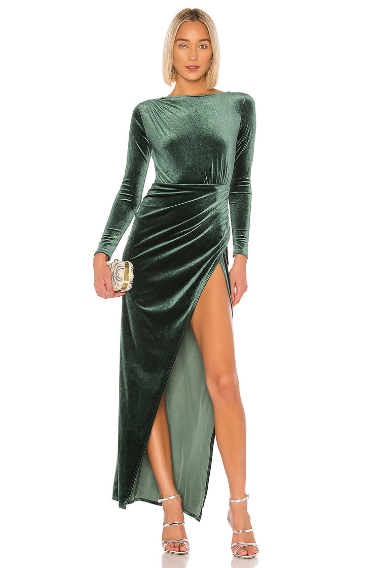 Gregory Emerald Slit Dress