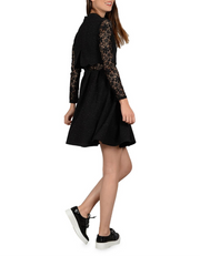 Shimmering Lace Long Sleeve Dress, Dresses, lalalauren,- REHEART Canadian Online Wardrobe-Sharing Platform