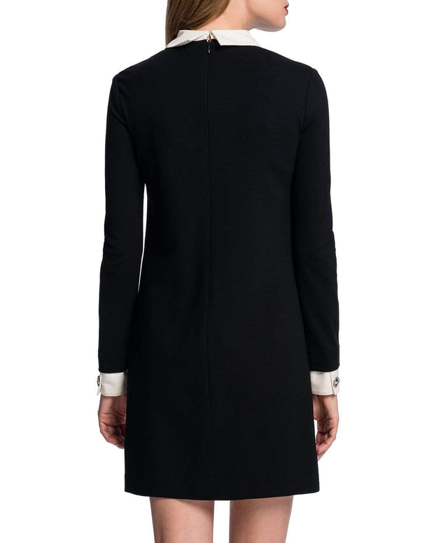 Collared Ponte Knit Shift Dress, Dress, katcm1,- REHEART Canadian Online Wardrobe-Sharing Platform