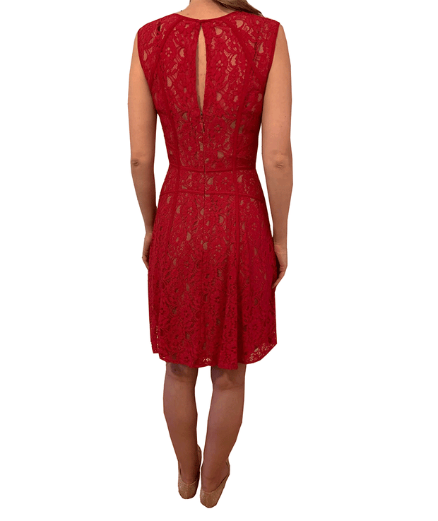 1 BCBGMAXAZRIA Lace Sleeveless Dress - REHEART 💜 Canadian Online Wardrobe-Sharing Platform