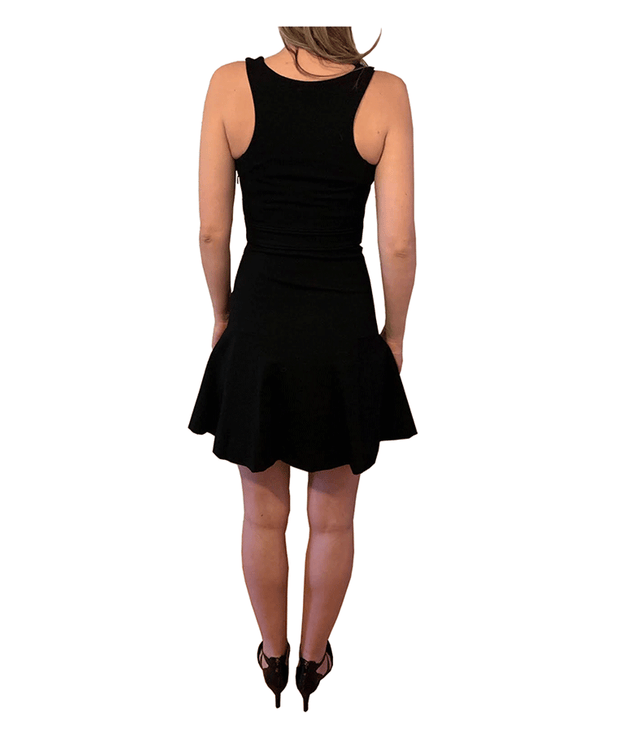 Black Dress with Bottom Flare - REHEART 💜 Canadian Online Wardrobe-Sharing Platform