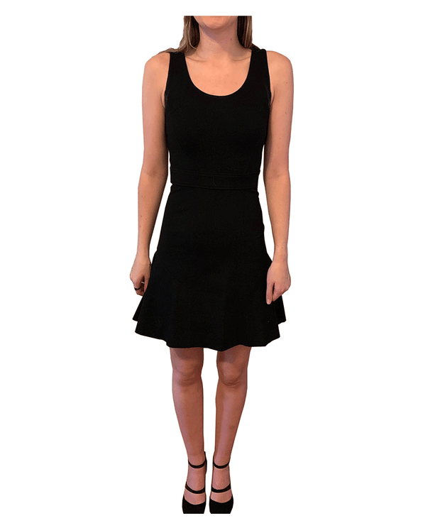 Black Dress with Bottom Flare, Dress, katcm1,- REHEART Canadian Online Wardrobe-Sharing Platform
