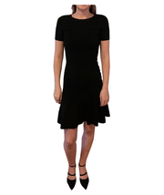 Short Sleeve Flare Dress, Dress, katcm1,- REHEART Canadian Online Wardrobe-Sharing Platform