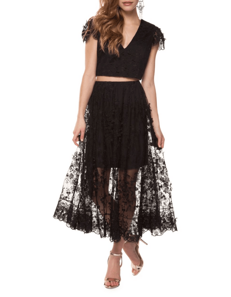 Two-Piece Lace Dress