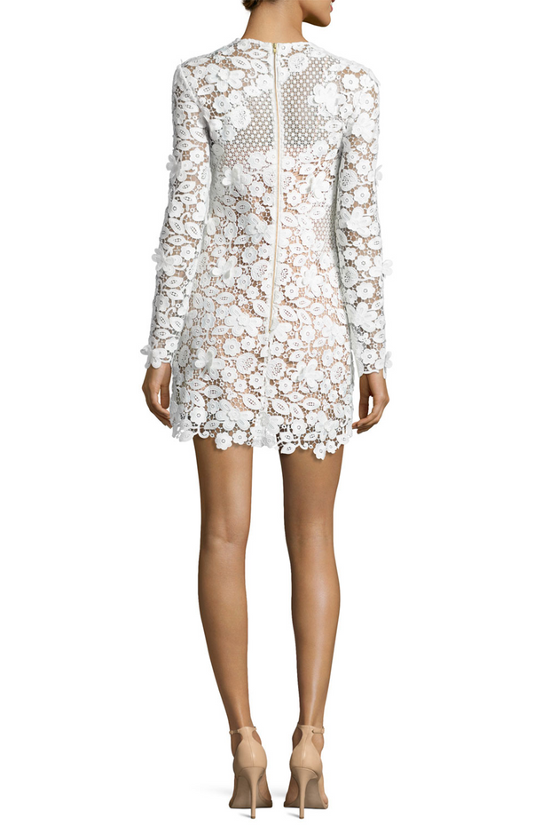 3D Floral Floral Guipure-Lace Mini Dress, Dress, k8whitt,- REHEART Canadian Online Wardrobe-Sharing Platform