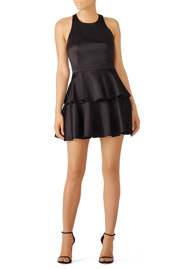 Black Full Skirt Dress, Dress, ladydi,- REHEART Canadian Online Wardrobe-Sharing Platform