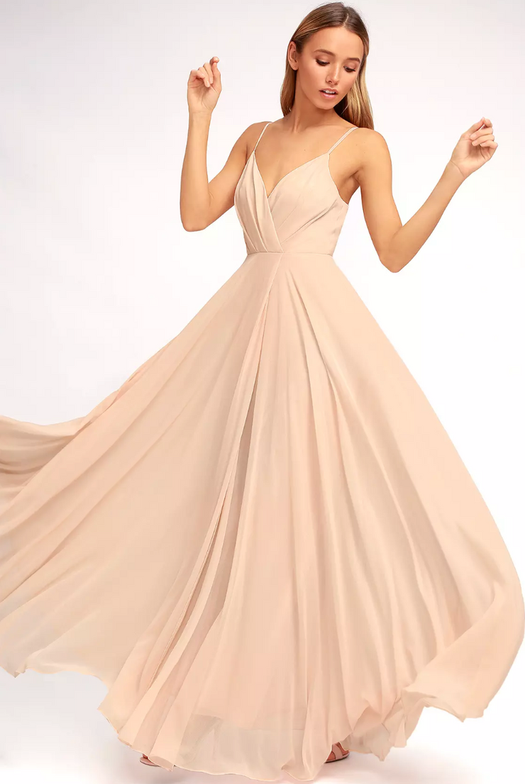 Crème de la Cream Gown, Dress, sienna,- REHEART Canadian Online Wardrobe-Sharing Platform