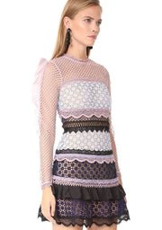 Bellis Lace Trim Dress with Frilled Sleeves, Dress, naturallycaroline,- REHEART Canadian Online Wardrobe-Sharing Platform