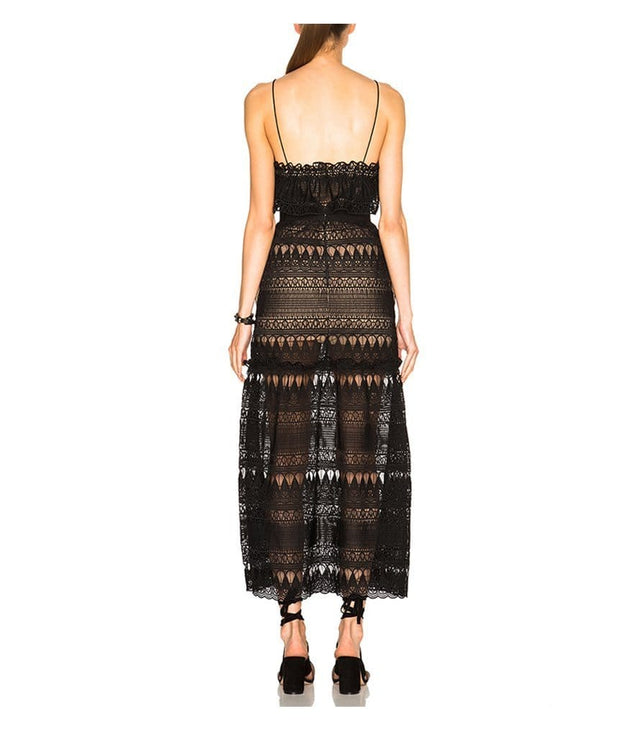 Full Teardrop Guipere Patterned Dress, Dress, rachelssc,- REHEART Canadian Online Wardrobe-Sharing Platform