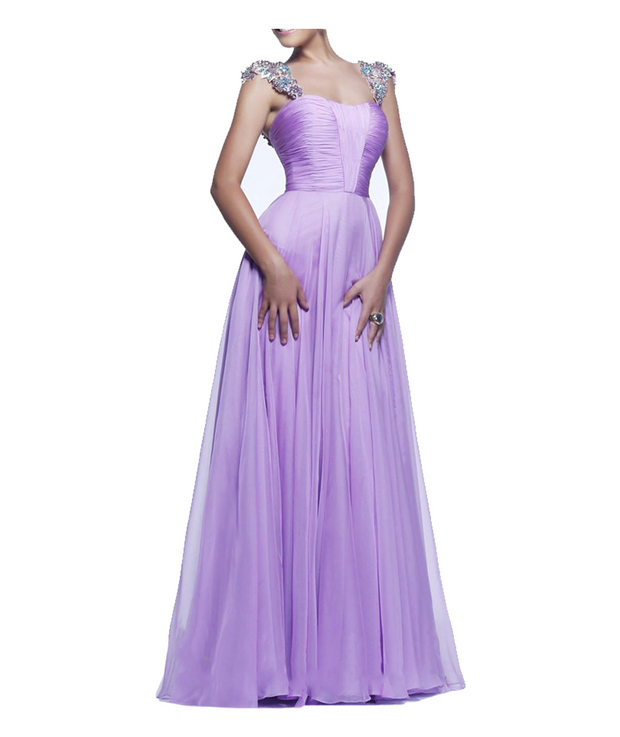 Lavender Jeweled Gown, Dress, vbelegrinis,- REHEART Canadian Online Wardrobe-Sharing Platform