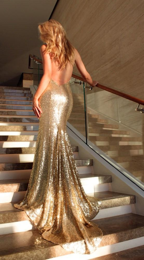 Gold Goddess Gown, Dress, sheridansydney,- REHEART Canadian Online Wardrobe-Sharing Platform
