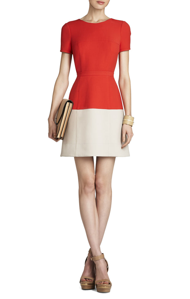 Hannah Colour-Blocked Dress, Dress, katcm1,- REHEART Canadian Online Wardrobe-Sharing Platform