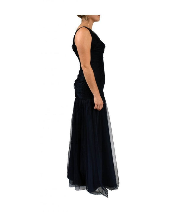 Navy Gown, Dress, KumarG,- REHEART Canadian Online Wardrobe-Sharing Platform