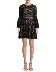 Bell Sleeve Lace Dress - REHEART 💜 Canadian Online Wardrobe-Sharing Platform