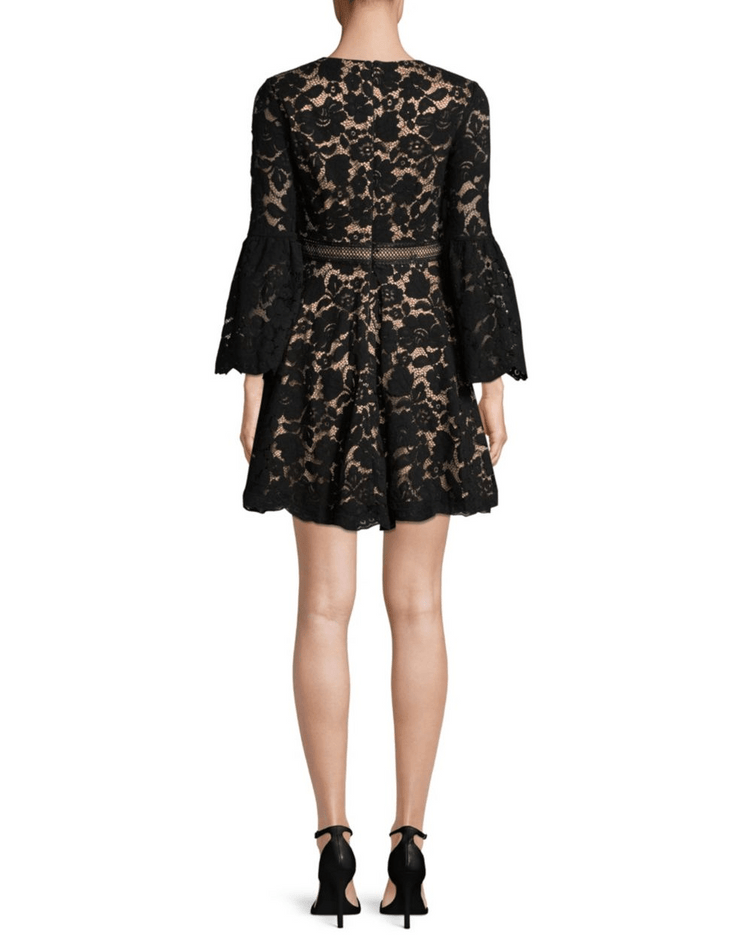 Bell Sleeve Lace Dress, Dress, Kelly,- REHEART Canadian Online Wardrobe-Sharing Platform