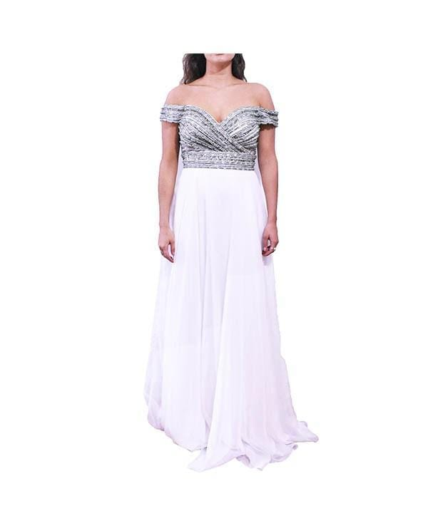 Jadore White Gown - Boro Dress Rentals