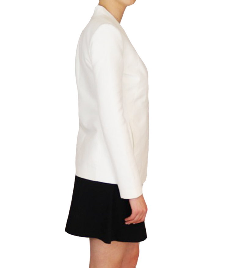 Angelina White Two-Button Blazer, Blazer, katcm1,- REHEART Canadian Online Wardrobe-Sharing Platform